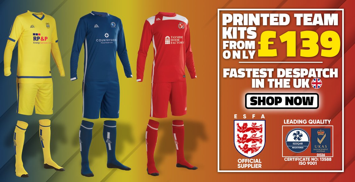 Printed Team Kits From Only £139