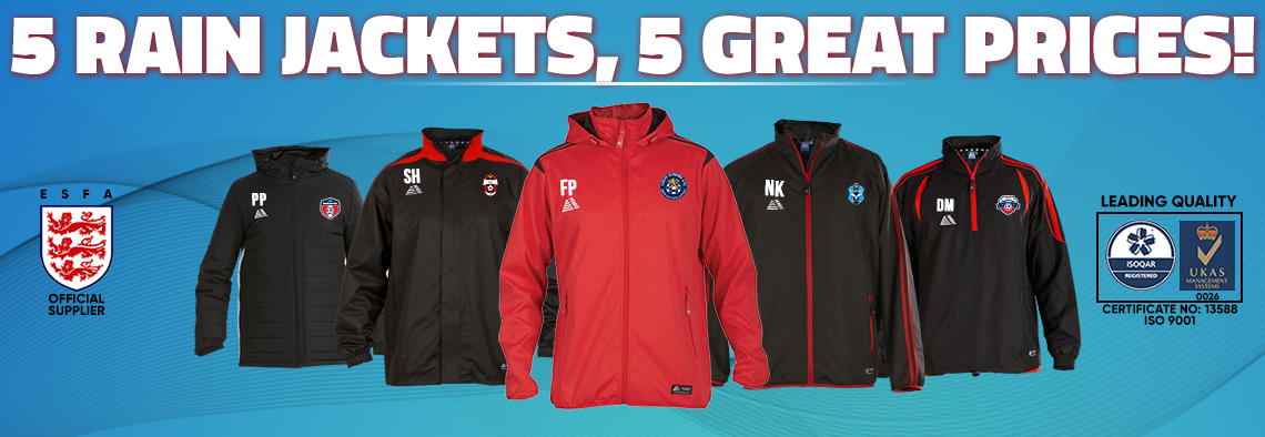 5 RAIN JACKETS, 5 GREAT PRICES