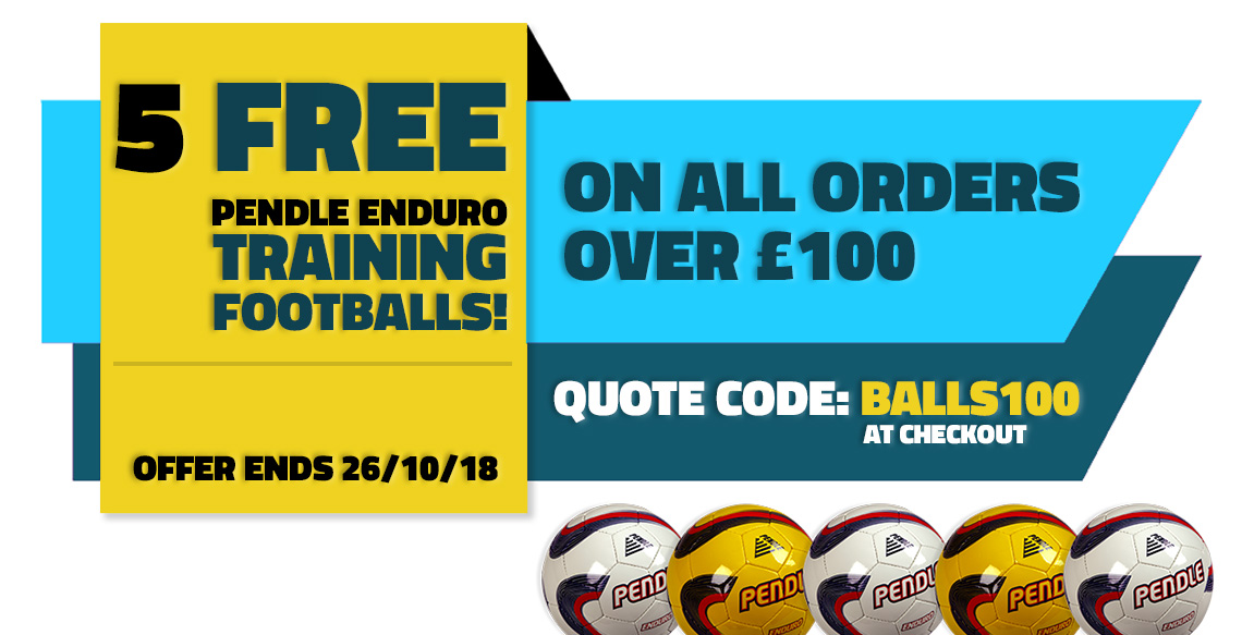 5 Free Footballs on all orders over £100