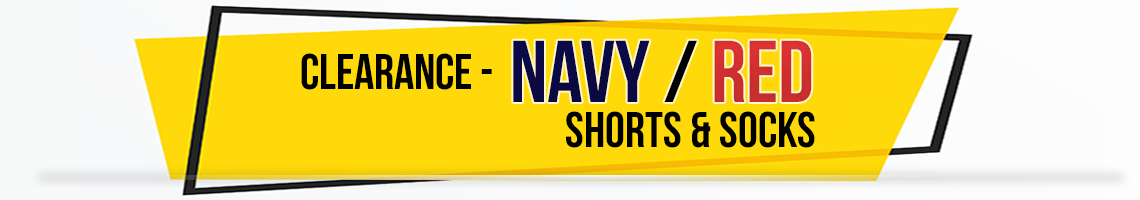 navy red shorts socks