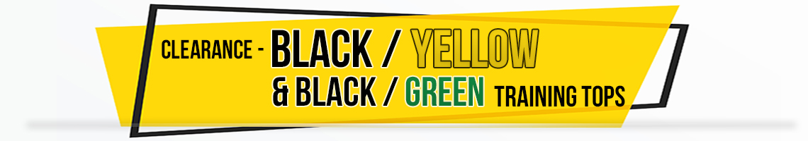 black yellow & black green banner
